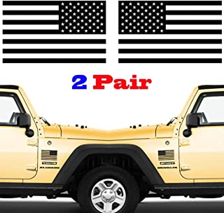 JIAYI 2 Pair Subdued American Flags Tactical Military Flag USA Decal Jeep 5