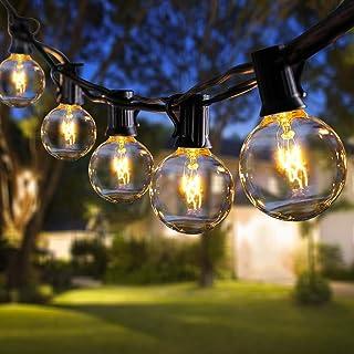 ROVLAK Exterieur Guirlande Lumineuse 11m G40 Étanche Ampoule Guirlande Noël 30 Ampoules+5 Ampoules Rechange Guirlande Jard...