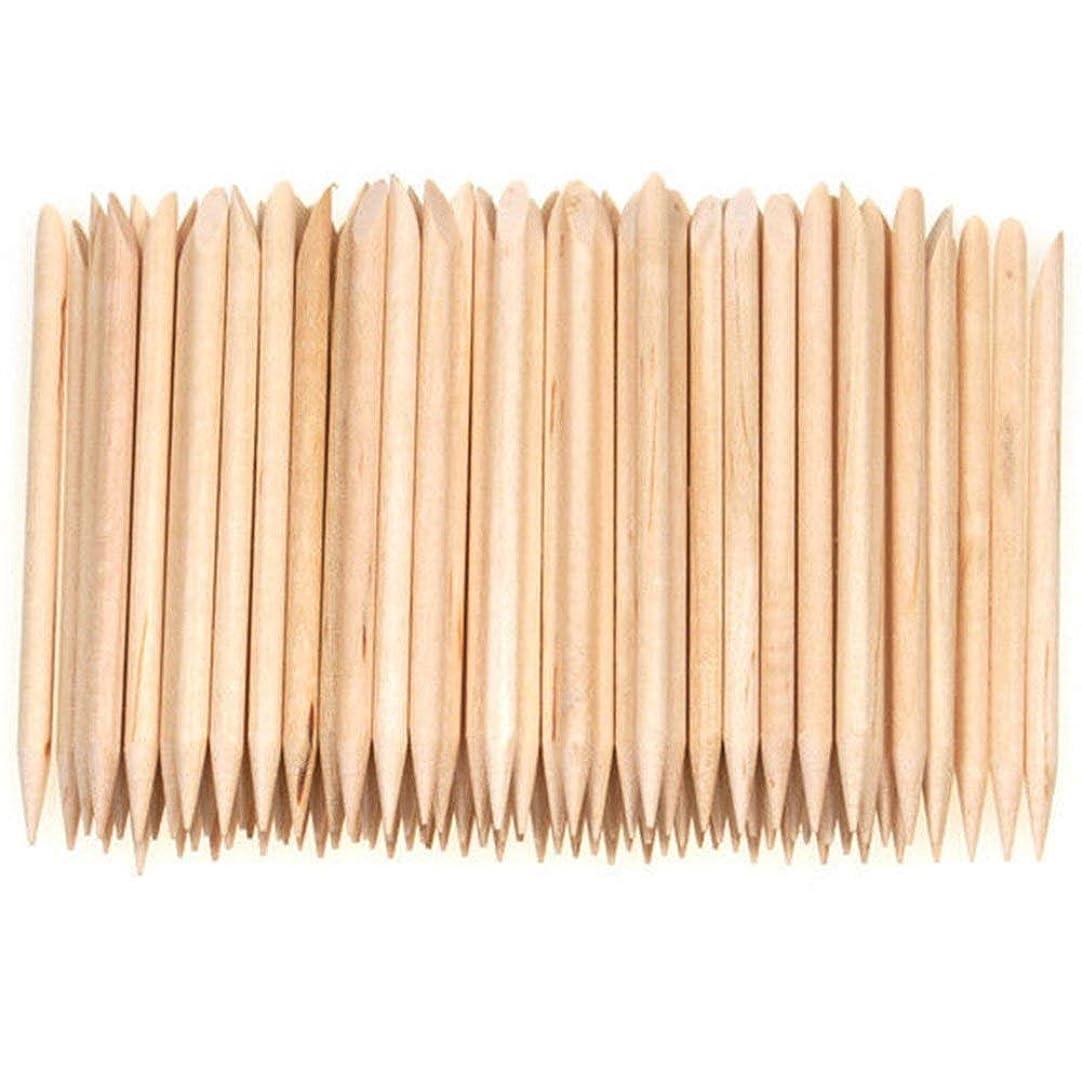 リーフレット固有のラフSemoic 100個ネイルアートデザイン木製の棒キューティクルプッシャーリムーバーマニキュアケア