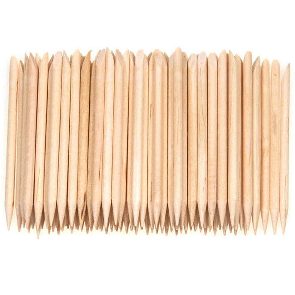 対角線今晩回転させるNrpfell 100個ネイルアートデザイン木製の棒キューティクルプッシャーリムーバーマニキュアケア