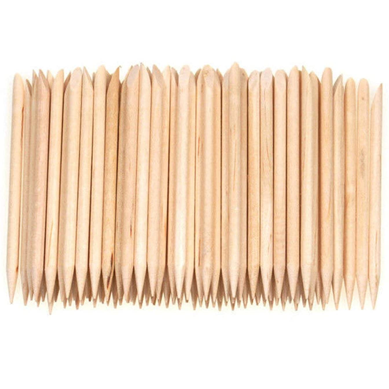 比率荷物病気だと思うRETYLY 100個ネイルアートデザイン木製の棒キューティクルプッシャーリムーバーマニキュアケア