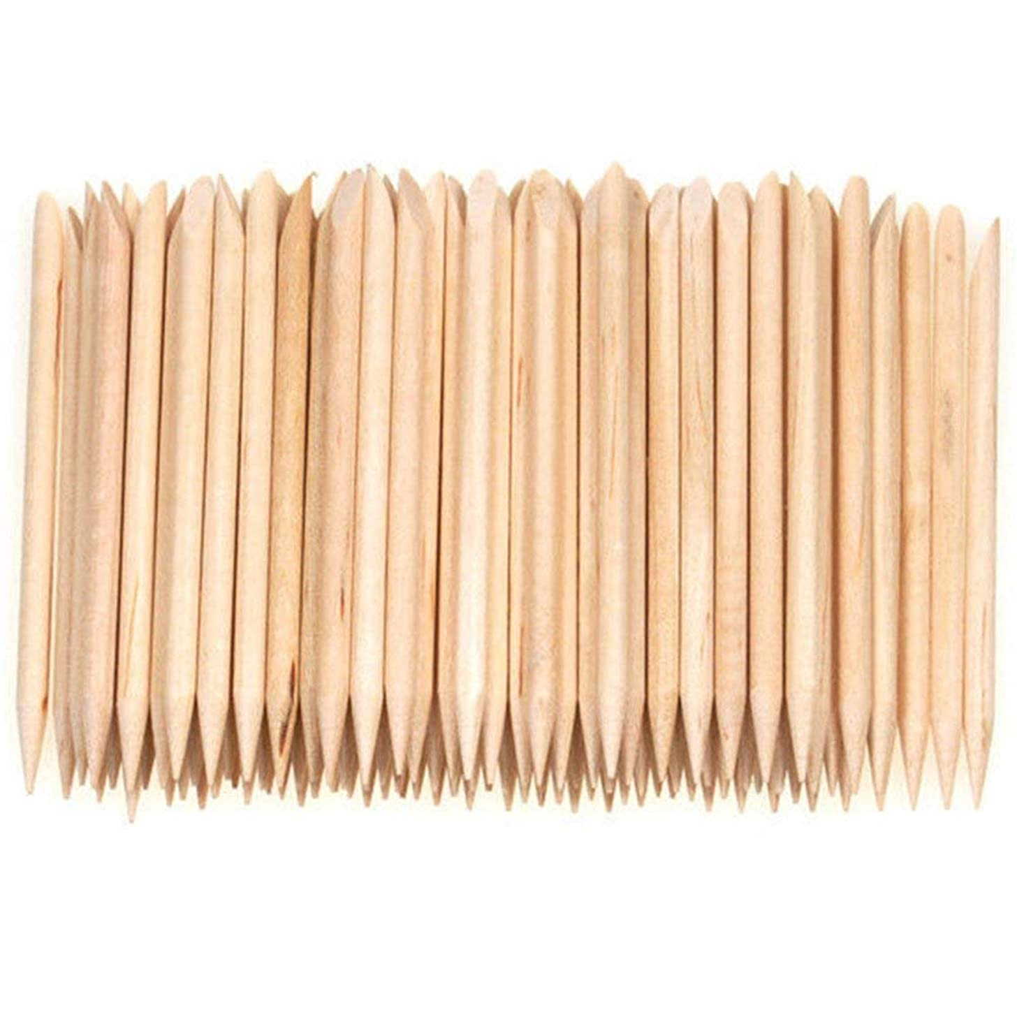 ACAMPTAR 100個ネイルアートデザイン木製の棒キューティクルプッシャーリムーバーマニキュアケア