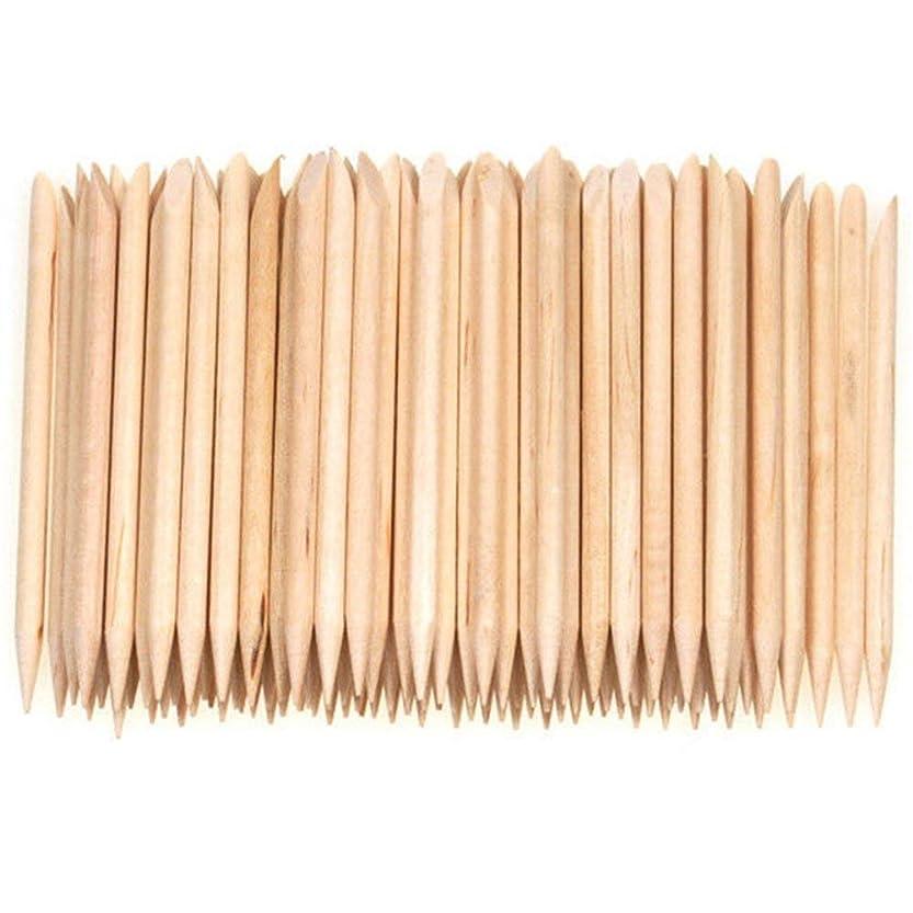 目覚める聖なるスロープSemoic 100個ネイルアートデザイン木製の棒キューティクルプッシャーリムーバーマニキュアケア