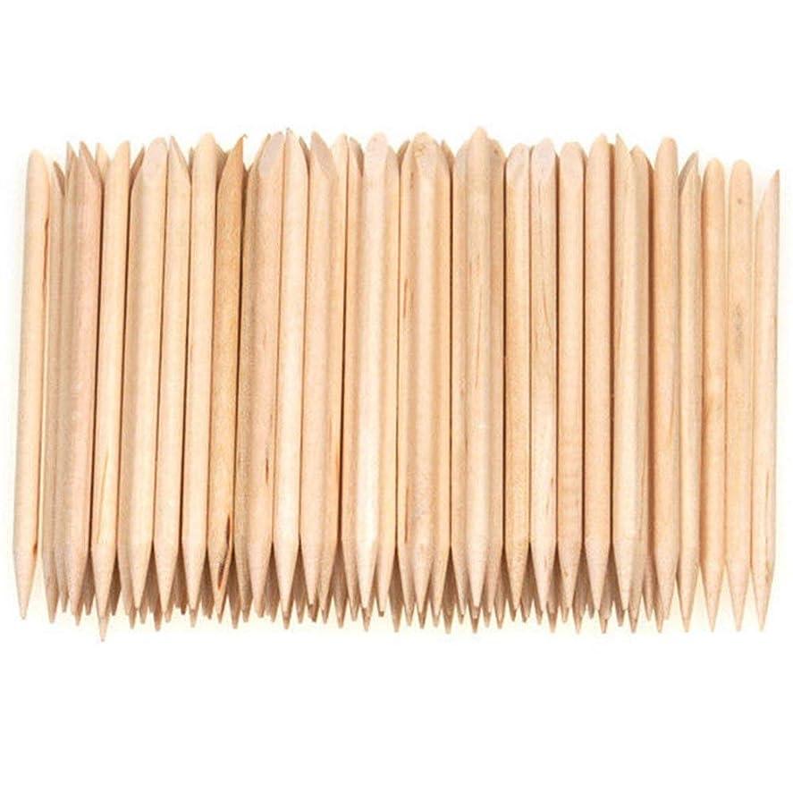 洞察力再生トリクルSemoic 100個ネイルアートデザイン木製の棒キューティクルプッシャーリムーバーマニキュアケア