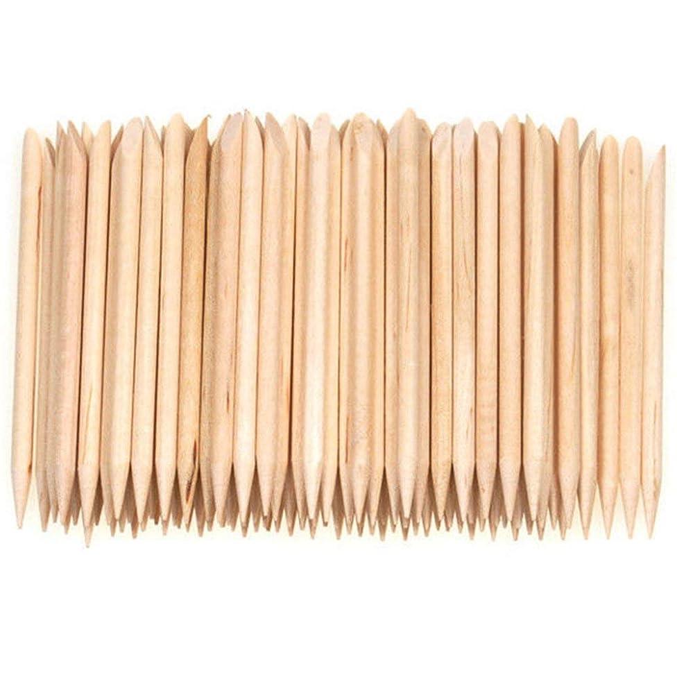 足ストレス買い物に行くSemoic 100個ネイルアートデザイン木製の棒キューティクルプッシャーリムーバーマニキュアケア