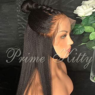 Human Hair Wigs for Black Women with Baby Hair Glueless Lace Front Wigs Normal Yaki Straight Brazilian Virgin Human Hair W...