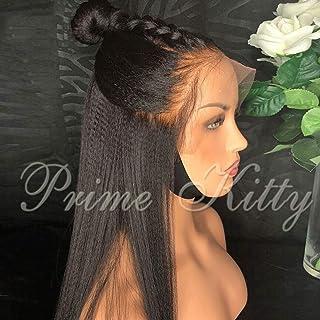 Human Hair Lace Front Wigs for Women 150% Density Normal Yaki Brazilian Human Hair Wigs with Baby Hair 9A Virgin Human Hai...
