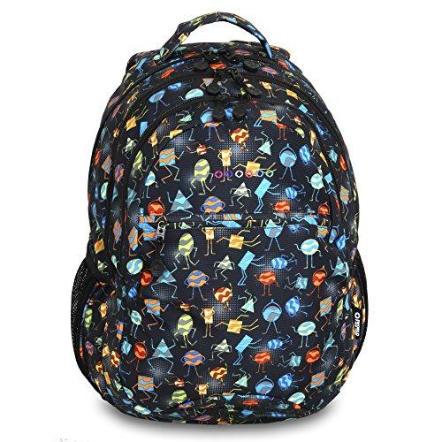 J World New York Cornelia Laptop Backpack Rucksack, 19 cm, 29.5 liters, Mehrfarbig (Party Mobs)