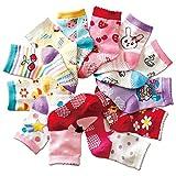Aipark 12 Paires de Chaussettes Antidérapants Unisexes pour les Bébés de 1–3Ans