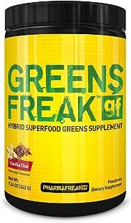 PHARMAFREAK - Greens Freak - 262G - USA - VC - Powder - Hybrid SUPERFOOD Greens Supplement - Vanilla Chai - Designed for A...