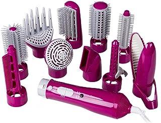 Secador de pelo cepillo de aire caliente, un paso 10 en 1 secador de pelo y enderezadora Volumizer rizado Styler peine de múltiples funciones Salon Styler de iones negativos, reducir el frizz liqiang9