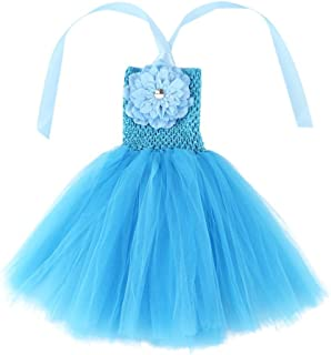 Wennikids Baby Girls Tutu Dress Crochet Tube Top Baby Pettiskirt with Match Flower