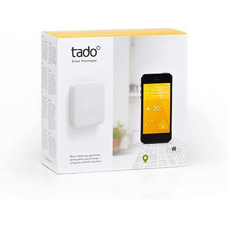 tado° Thermostat Intelligent Kit de Démarrage V2 - Contrôle Intelligent du Chauffage, Fonctionne avec Amazon Alexa, Assistant Google, IFTTT