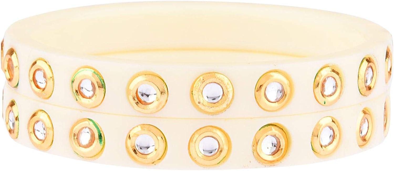 Efulgenz Fashion Jewelry Indian Bollywood Crystal Rhinestone Acrylic Bracelet Bangle Set