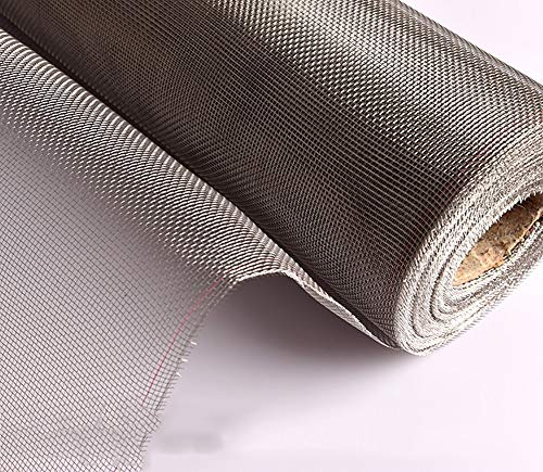 LRQY Aluminio Mosquitera para Puerta Ventana,Malla de Insectos roedor Alambre,304 de Acero Inoxidable,por Control de plagas Malla de Seguridad de corrosión,150x300cm(59x118inch)