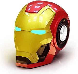 GFDay Wireless The Avengers Marvel Iron Man Helmet Bluetooth Speaker with Light Up LED