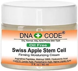 OIL FREE- Swiss Apple Stem Cell Cream w/Argireline, Matrixyl 3000, Hyaluronic Acid, CoQ10. Big 2 OZ