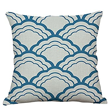 EHOMEBUY Decorative Throw Pillow Case Sofa Cushion Cover Square 18X18 Inch, Pattern 10