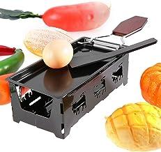Ensemble de mini-gril à raclette avec revêtement antiadhésif solide et durable pratique à utiliser et à nettoyer pour fond...