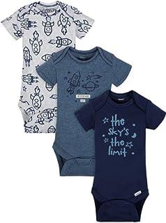2b0179b041 Gerber Organic Cotton Baby Boy Onesies Bodysuits 3-Pack