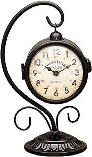 Station Clock ヨーロッパ風両面時計 ボスサイドハンギング (ブラック)
