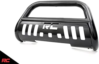 Rough Country Black Bull Bar Compatible w/ 2008-2018 Chevy Silverado GMC Sierra 1500 SUV Push Bar Grille Guard B-C2071