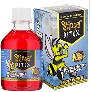 Stinger Total Detox 1 Hour Red Fruit Punch Cleanse 8 oz