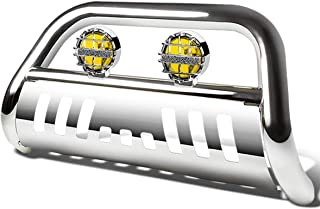 For Ford Explorer U502 3 inches Chrome Bull Bar+6 inches Chrome Housing Amber Lens Fog Lights