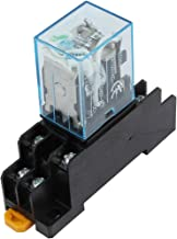 uxcell IEC255 DC 12V Coil 8Pin DPDT Electromagnetic Power Relay w Socket Base