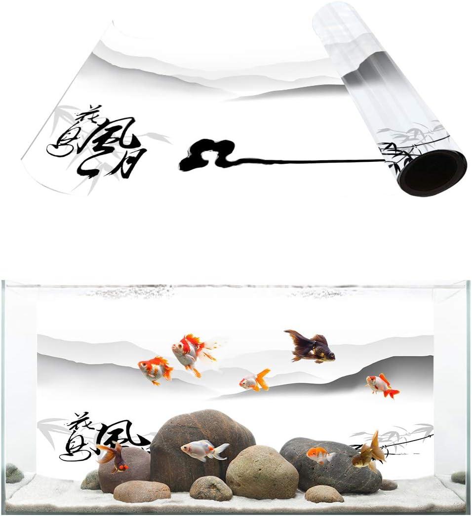 TH XHome Aquarium Décor Backgrounds Simple Landsc Sale Chinese Black Seattle Mall