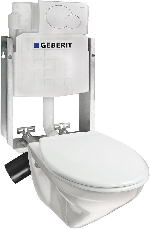 Villeroy & Boch  Komplettanlage Villeroy & Boch OMNIA tiefspül Wand-WC + Geberit Unterputz Spülkasten, wei