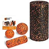 Blackroll Orange (Das Original) Starter Set mit 2x Faszien-Rolle & 2x Massageball, inkl. Booklet -