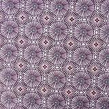 SCHÖNER LEBEN. Baumwollstoff WOMBY Blumen Kreise lila