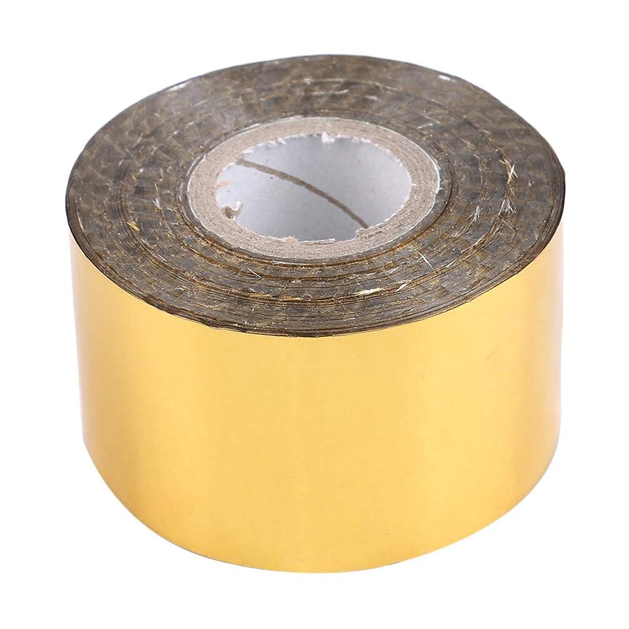 発言する理解するポンプLJSLYJ 4センチ* 120メートルホログラフィックロール星空ネイル箔ストライプネイルアート転送ステッカー、ゴールド