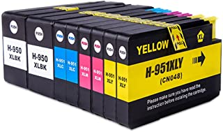 Compatible HP 950 951 Ink Cartridges Replacement for HP 950XL 951XL Ink Work with HP Officejet 8100 8600 8610 8620 8630 86...