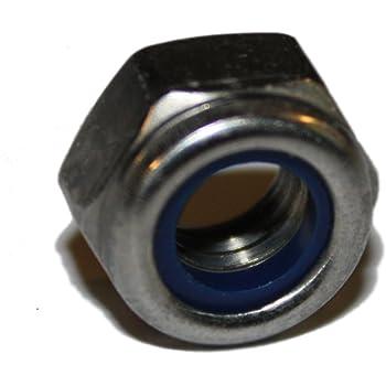 Edelstahl V2A Sicherungsmutter Edelstahlmutter A2 Mutter Hexagon M3-M24 d