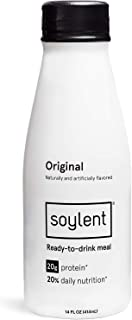 Original Soylent Meal Replacement Shake, Original, Complete Meal In A Bottle, 20g Plant Protein, 14 Oz Bottles, 12 Pack