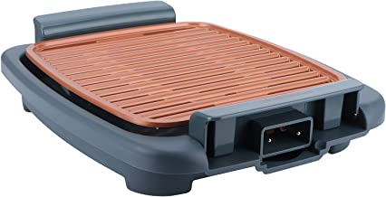 Utensílios para forno elétrico, bandeja antiaderente portátil de 1000 W, 5 modos de ajuste de temperatura, grelha elétrica...