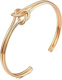 FAMARINE Gold Geometric Drop Earrings, Rectangle Dangle Earrings for Women Girls Costume Jewelry