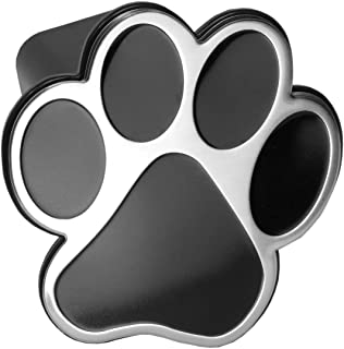 LFPartS Bear Dog Animal Paw Foot Emblem Metal Trailer Hitch Cover Fits 2