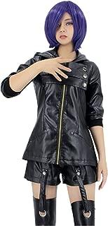 US Size Anime Touka Kirishima Leather Clothing Cosplay Costume