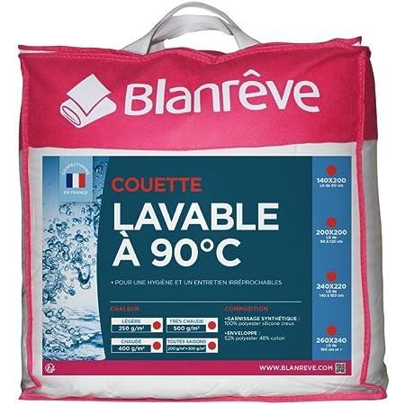 Blanrêve Couette Lavable à 90°C toutes Saisons 240 x 220
