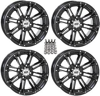 STI HD3 ATV Wheels/Rims Black 14 Polaris Sportsman XP 550 850 (4)