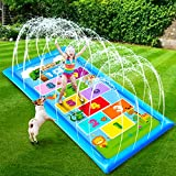 Splash Pads for Toddlers 1-3 Water Sprinkler for Kids Outdoor Water Toys Summer Outside Toys for Kids 2-4 4-8 Numbers Animals Learning Play Mat Baby Pool Toys Backyard Yard Games for Boys Girls