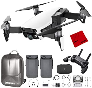 DJI Mavic Air Quadcopter with Remote Controller - Arctic White Max Flight Bundle with Spare Battery, and Custom Mavic Air ...