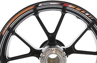 IMPRESSIATA SpecialGP Felgenstreifen Aufkleber Abziehbilder Klebebänder Wasser  / UV Schutzstreifen Reflektierende Motorradgrafiken Kompatibel mit Honda CBR 1000RR REPSOL   Orange