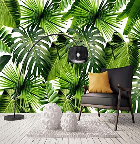 Vliesbehang 3D fotobehang achtergrond Zuidoost-Aziatische jungle banaanblad 3D foto achtergrond muur behang modern 350*245 350*245