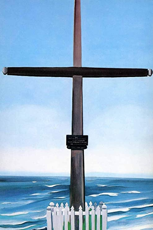 CANVAS OR PRINT WALL ART Cross By The Sea O/'Keeffe