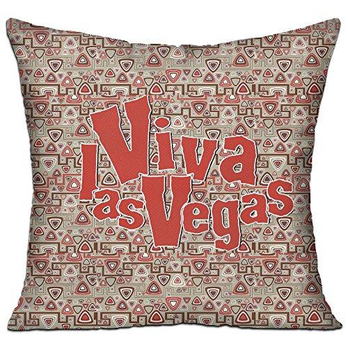 Ojinwangji Funny Viva Las Vegas1 (2) Soft Pillow Print Sofa Pillowcase 18 X 18 Inches,