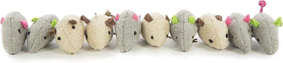 SmartyKat Skitter Critters Plush Catnip Mice Cat Toy Value Pack, Set of 10